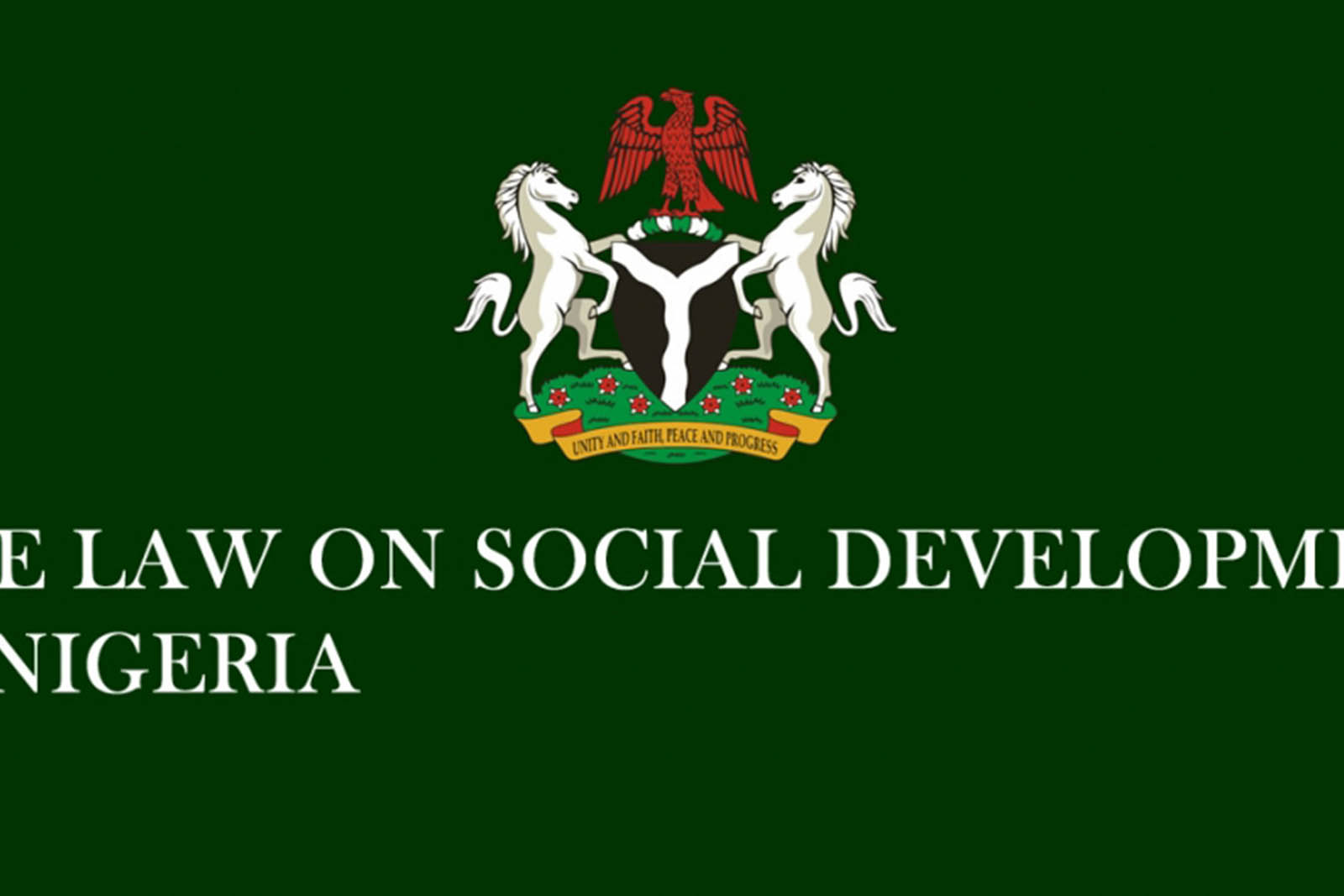 SOCIAL DEVELOPMENT IN NIGERIA