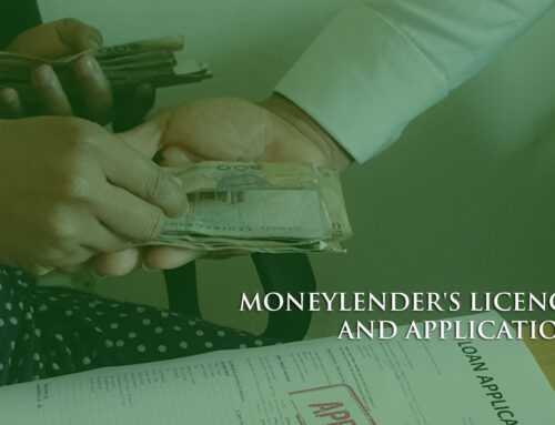 MONEYLENDER'S LICENCE AND APPLICATION