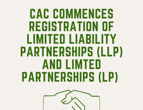 CAC COMMENCES REGISTRATION OF LIMITED PARTNERSHIP (LP) AND LIMITED LIABILITY PARTNERSHIP (LLP)