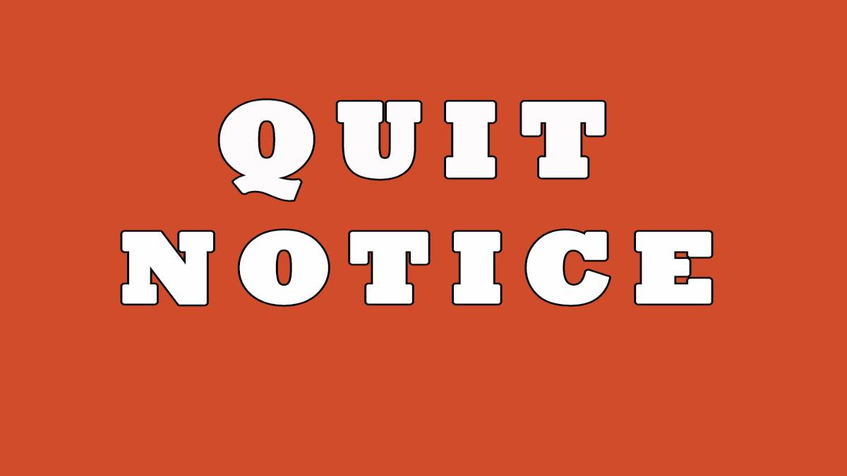 quitnotice, landlord quit notice,