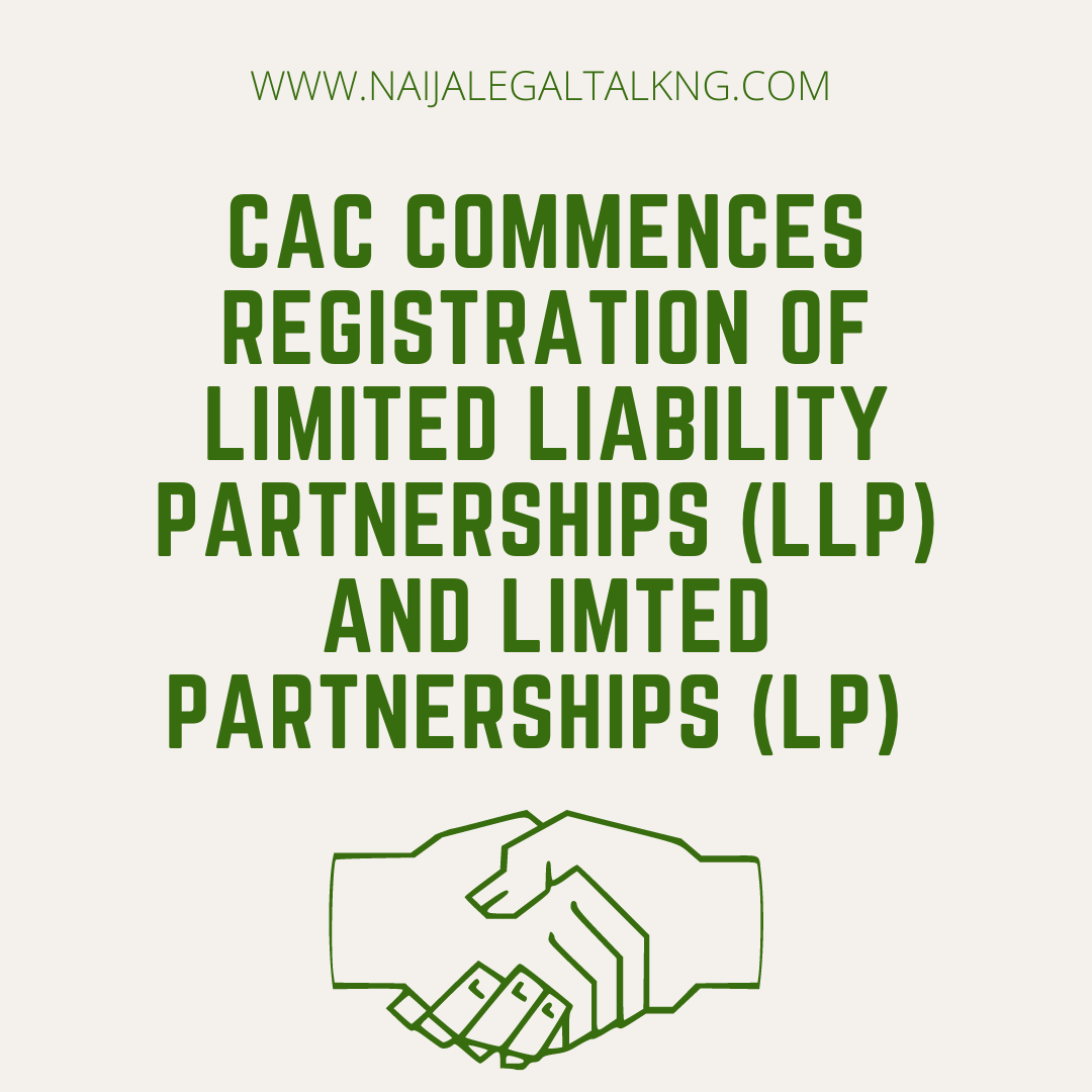 Cac commences registration of LPs and LLPs